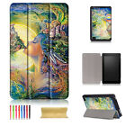 """For Amazon Kindle Fire 7 7"""" 2017 Pattern Folio PU Leather Smart Case Stand Cover"""