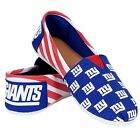 NFL Football Team Logo Stripe Womens Slip On Canvas Shoes - Choose Team фото