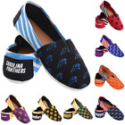 NFL Football Team Logo Stripe Womens Slip On Canvas Shoes - Choose Team $18.99 USD