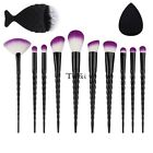 11pcs Makeup Brushes Set Kabuki Powder Foundation Eyeshadow Eyeliner Lip TXWD
