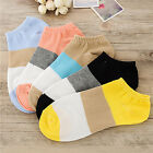 10pairs Women Casual Cute Heart Candy Color CottonShort Socks Ankle Boat SockLAU