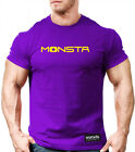 NEW MEN'S Monsta Clothing Clean and Simple Series Fashion Tee: Purple / Yellow