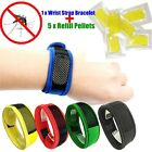 Baby Mosquito Repellent Bracelets Anti Mosquito Killer Wristband+5XRefill Pellet