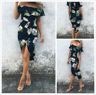 Women Summer Boho Floral Beach Evening Cocktail Long Maxi Dress Newest Fashion