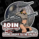 2x Star Wars inspired Imperial Galactic Empire Pinup girl Sticker UV Vinyl decal $7.98 USD