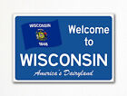 "Welcome to Wisconsin Sign Replica Souvenir 2""x3"" Fridge Magnet"