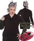 Hell Bunny Vintage Style Josephine Cardigan Black Cable Knit