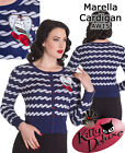 Hell Bunny Vintage Style Marella Cardigan Nautical Rope Boat