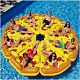 Inflatable Pizza Slice Swimming Float Summer Float Fun Swimming Pools Water Toy