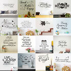 Removable Quote Mural Words Art Vinyl Wall Sticker Home Kitc