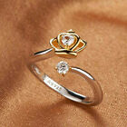 Platinum Plated Crown Rings Pigeon Silver Jewelry Accessories Opening Ring