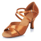 Professional Women's Ballroom Latin Tango Dance Shoes heeled Salsa 40602
