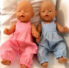 """17"""" DUNGAREES BOY OR GIRL DOLLS CLOTHES HANDMADE FIT BABY BORN 43CM OR SIMILAR"""