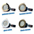 20 x LED Fire Rated Downlights Downlighters GU10 LED Bulbs Spotlights Ceiling UK