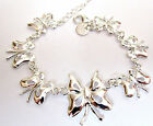 FAB SELECTION OF STERLING SILVER BRACELETS STARFISH BUTTERFLY