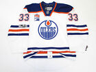 TALBOT EDMONTON OILERS AUTHENTIC AWAY 100th ANNIVERSARY REEBOK EDGE 2.0 JERSEY