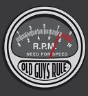 """OLD GUYS RULE """" NEED FOR SPEED """" RPM V8 MUSCLE HOT ROD S/S SIZE M,L,XL,2X,3X."""