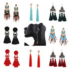 Fashion Women Bohemian Retro Long Flowing Su Ear Fruit Dangle Earrings Pendant