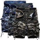 SUMMER MILITARY CARGO TROUSERS MEN ARMY VINTAGE COMBAT WORKWEAR SHORTS PANTS HOT