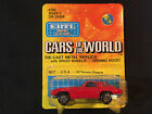 Ertl Cars Of The World '63 Corvette Stingray Red Toy Car Made In Hong Kong