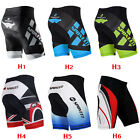 Mens Cycling Bike Shorts 4D Gel Padded Biking Clothing Lycra Biker Short Pants