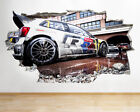 Wall Stickers Rally Car Cool Boys Bedroom Smashed Decal 3d Art Vinyl Room C062