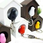 Top Bird Nest Sparrow House Key Chain Keyring Plastic Whistle Wall Hook Holder