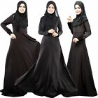 Lady Long-sleeved Loose Abaya Burqa Kaftan Muslim Islamic Party Maxi Dress