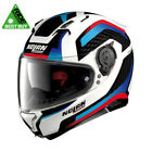Nolan N87 Arkad N-Com – Metal White/Blue/Red Motorcycle Helmet RIDE BEST BUY