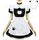 Housemaid Cosplay Kitty Embroidery Cute Maid outfit M/L Hollow Out Bolero Hot