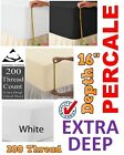 Egyptian Cotton 200 Thread Count Percale Extra Deep 16
