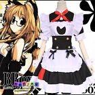 Lolita Catwoman Cosplay Apron Dress Anime Cos Housemaid Maid clothes Waiter New