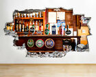 Wall Stickers Beer Pints Bar Tap Man Cave Smashed Decal 3D Art Vinyl Room C762
