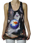 Funny Wizard Cat Summoning A Goldfish For A Snack Graphic Women's Tank Top