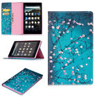 """For Amazon Kindle Fire HD 8 8"""" 2018&2017 Pattern Wallet Leather Case Flip Cover"""