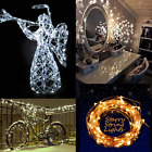 10M/33FT 100LED Solar Powered Warm White LED String Party Outdoor Fairy Light