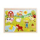 60Pcs Wooden Puzzles Kids Educational Toys DIY Wooden Jigsaw Puzzle for Children