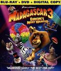 MADAGASCAR 3: EUROPE'S MOST WANTED NEW BLU-RAY