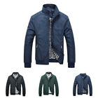New Fashion Men's Thin Jacket Slim Stand Collar Zipper Casual Basic Short Coat