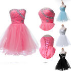 PRINCESS Short MINI Evening Dress Formal Ball Gowns Party Prom Weding Dress 6-20