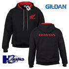 New Mens Honda Tribute Contrast Hoodie Hooded Top Sizes Small to 2XL