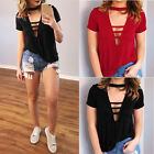 Summer Women's Lady Loose V Neck Casual Blouse Shirt Tops Fashion Blouse S-XL