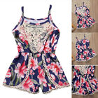 Floral Infant Baby Girl Bodysuit Romper Jumpsuit Outfit One Piece Sunsuit 0-24M