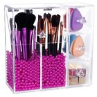 PuTwo Makeup Organize Case Rosy 2 Make Up Brush Holders 3 Drawers women storage