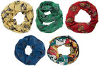 Harry Potter Hogwarts Viscose Infinity Scarf New Official Gryffindor / Slytherin