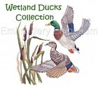 WETLAND DUCKS COLLECTION - MACHINE EMBROIDERY DESIGNS ON CD