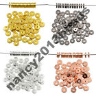 Solid Metal Flat Round Disc Slice Bracelet Necklace Connector Beads Jewelry