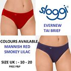 Sloggi EverNew Tai Brief Smokey Lilac & Mannish Red  UK Sizes 10-20 NEW Colours
