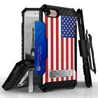 Tri Shield USA Flag Kombo Case, Holster & Screen Protector for iPhone 7 / 7 Plus
