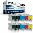 10x Premium Tintenpatronen für Brother LC970/LC1000 Drucker Kit-Easy Print Serie
